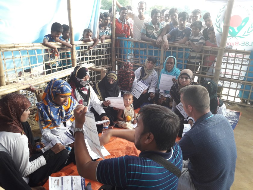 Rohingya interpreter at work on Cox's Bazar