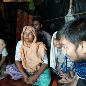 Rohingya interpreter at work