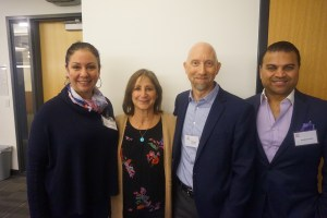 NCTA events chair Fernanda Brandao-Galea, presenter Lorena Ortiz Schneider, NCTA president Michael Schubert, presenter Shamus Sayed