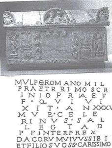 Sarcophagus of Marcus Ulpius Romanus