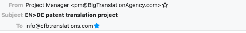 An email from BigTranslationAgency.com?