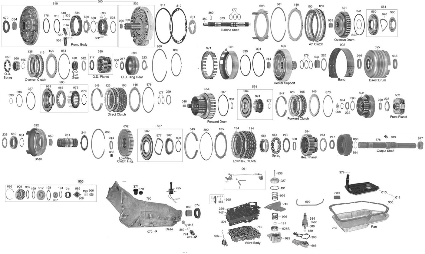 R Transmission Parts Diagram Transmission Parts Online