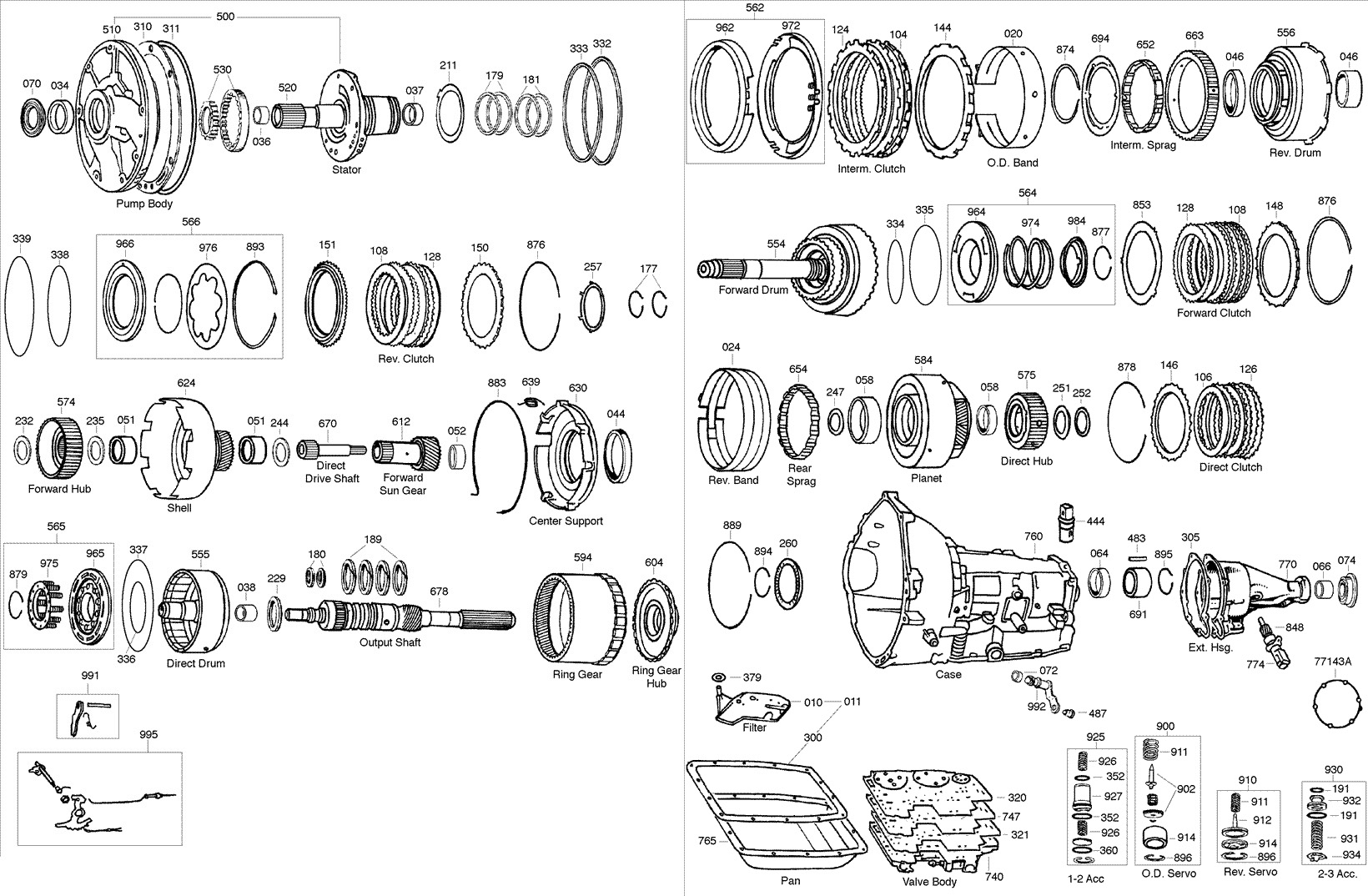 Automatic Transmission Parts Ford 4r70w Aode Transmission