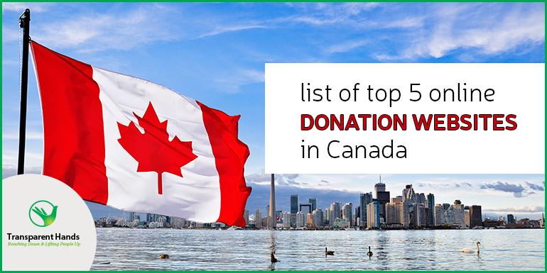 List of Top 5 Online Donation Websites in Canada
