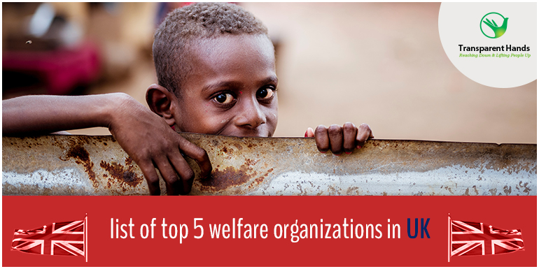 list of top 5 welfare organizations in UK