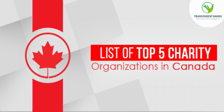 List of Top 5 Charity Organizations in Canada