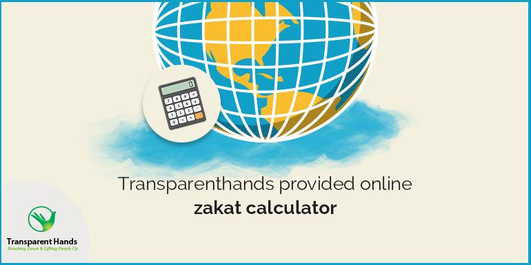 Transparent Hands Provided Online Zakat calculator
