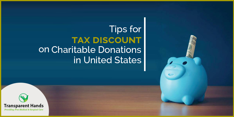 Tips for tax discount on charitable donations in United States