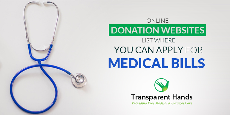 Online Donation Website Lists Where You Can Apply for Medical Bills