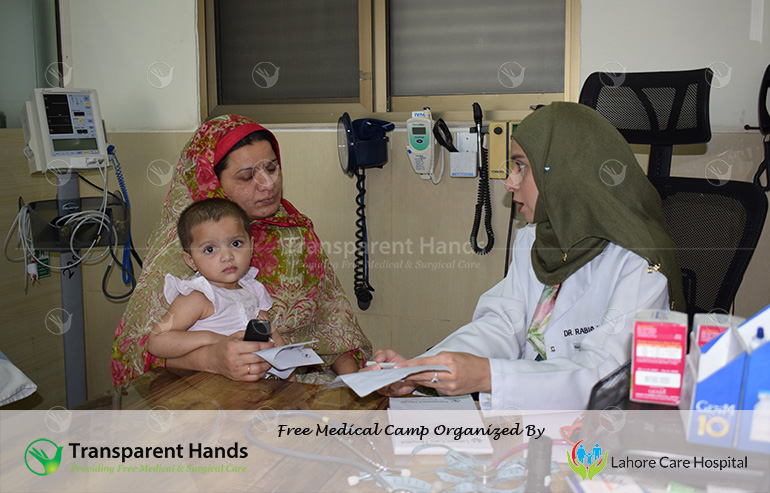 Medical Camp in Lahore by Transparent Hands and Lahore Care Hospital