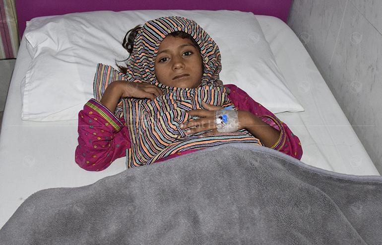 little girl post operation