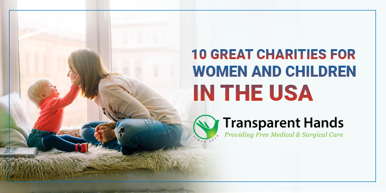 charities for women and children in the USA