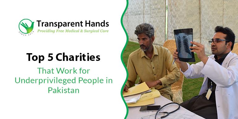 Charities for Underprivileged People in Pakistan