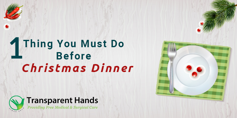 One Thing You Must Do Before Christmas Dinner