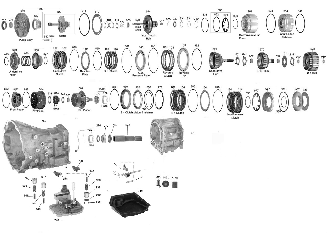Trans Parts Online 604 42rle Transmission Parts