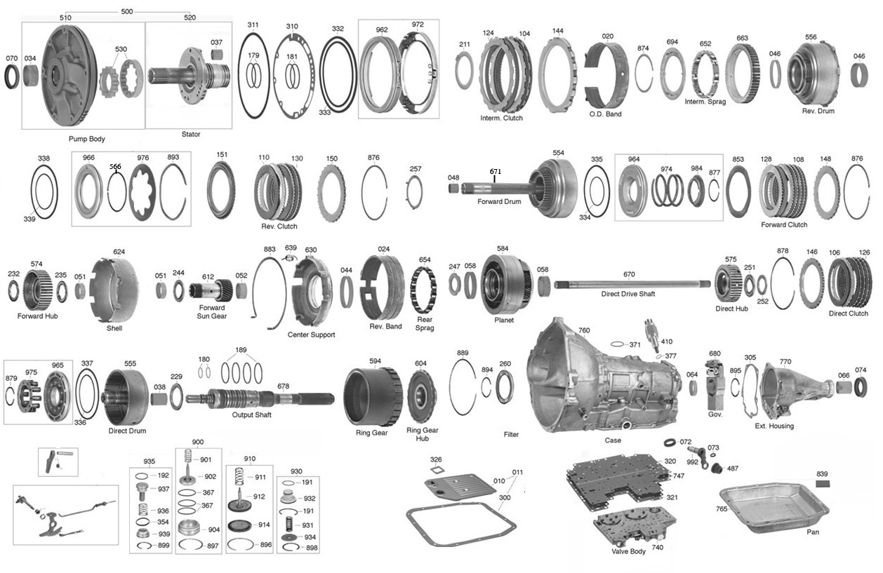 Aod Valve Body Diagram