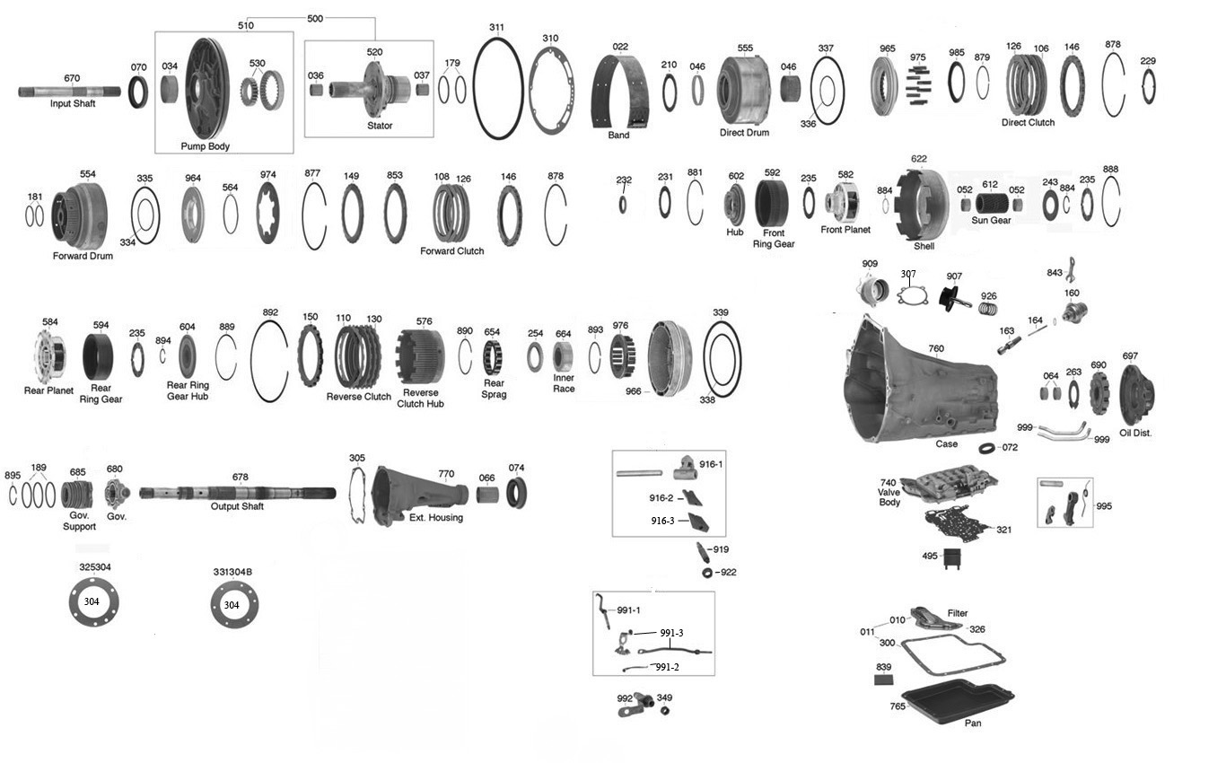 4l80e Reverse Servo Parts Diagram