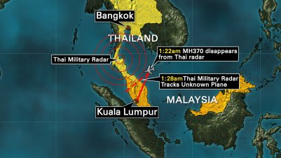 Information from the Thai government bolsters the belief that missing Malaysia Airlines Flight 370 took a sharp westward turn after communication was lost.