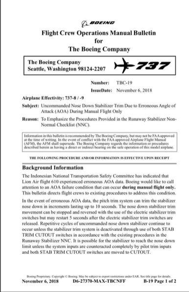 FLIGHT CREW OPERATIONS MANUAL BULLETIN-01