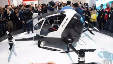 Photo of Ehang 184, el dron que transporta humanos, sorprende en CES 2016