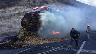 Photo of Arde camión en carretera 57