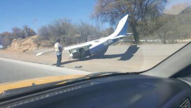 Photo of Avioneta aterriza de emergencia en carretera