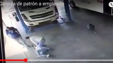 Photo of (Video) Dueño de empresa transportista golpea a trabajador