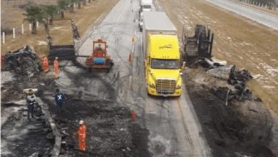 Photo of Fuerte encontronazo de camiones deja pérdidas millonarias