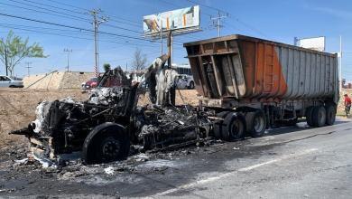Photo of Arde camión operador sobrevive