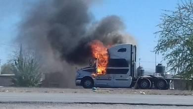 Photo of Queman camiones de carga en Carretera a Chihuahua