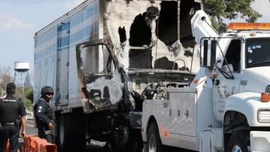 Photo of Queman camión en Guanajuato en medio de enfrentamiento