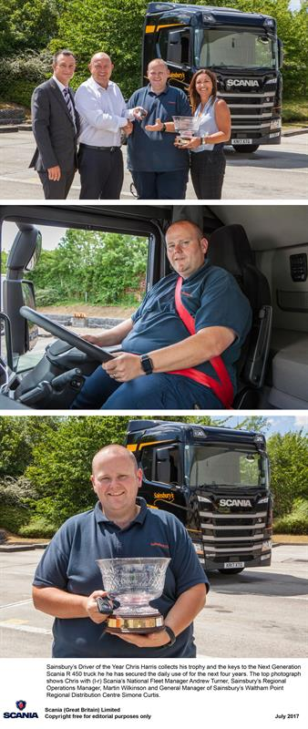 Scania prize for Sainsbury's top driver