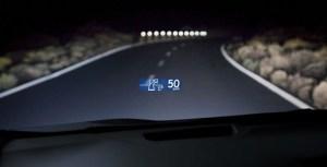 HUD de Lexus (RX 450h), monocromo