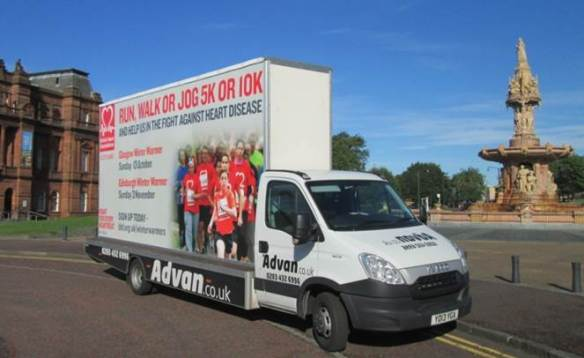 British Heart Foundation - Mobile Billboard Trailer