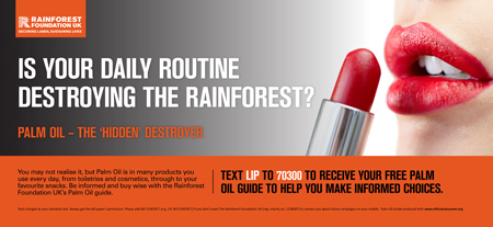 Rainforest Foundation Rail Ad Lipstick