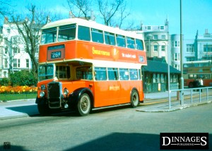 HC001 Brighton Old Steine circa 1962-66 Brighton Hove & District Bristol KS6G MPM494 Hollingbury Service 26B © Jack Turley/Dinnages 2019-66