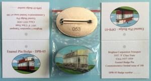 DPB05 Brighton Tram badge all numbered