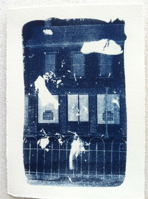 Example of Cyanotype for 'The Sweep Project'.