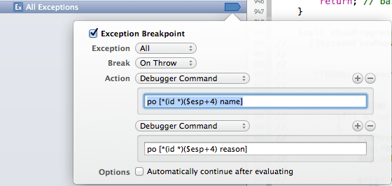Breakpoint on all exceptions