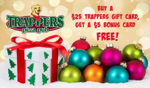 Trappers Holiday Bonus Card