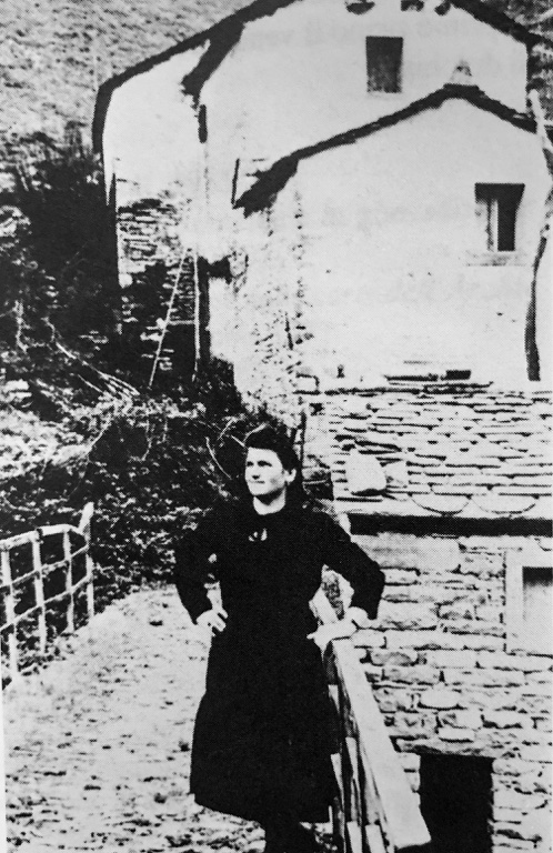 Anni 50 Adalgisa Milanesi al Mulino delle Cortine