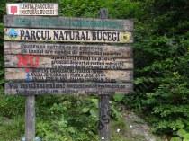 Panou Parcul National Bucegi