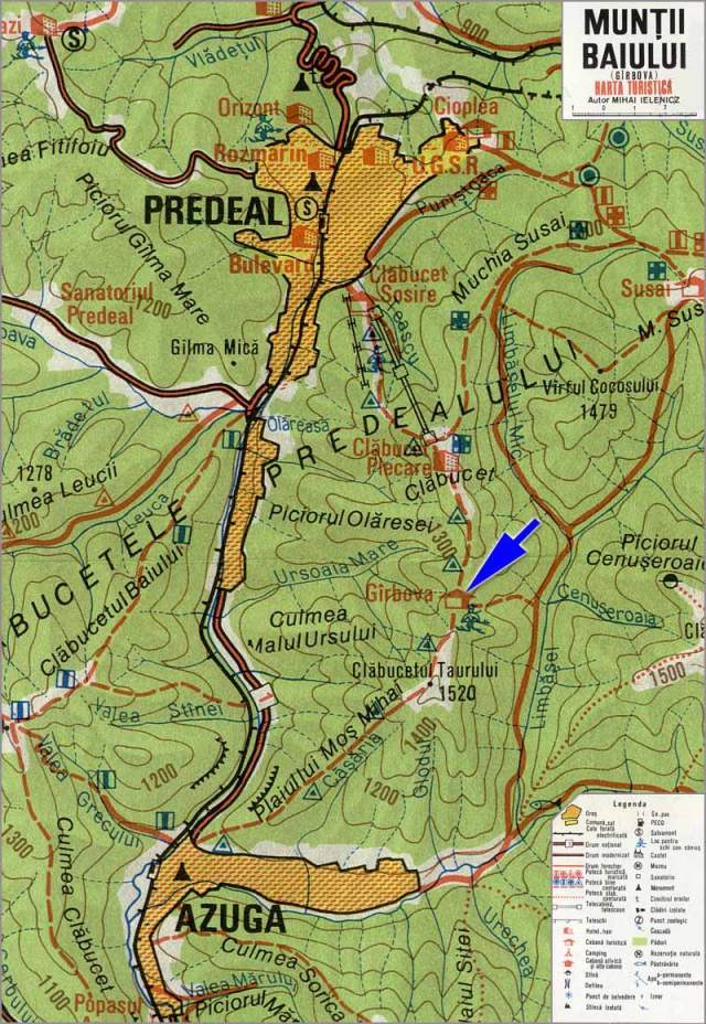 Harta Muntii Baiului_Cabana Garbova