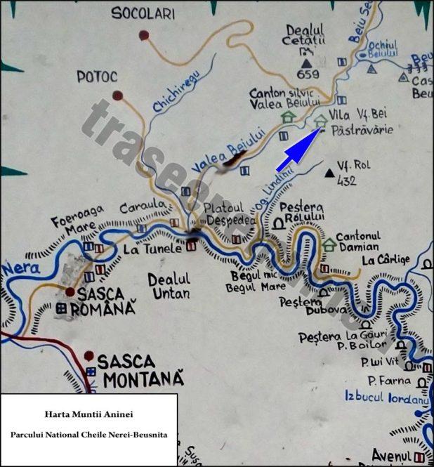 Harta Cheile Nerei