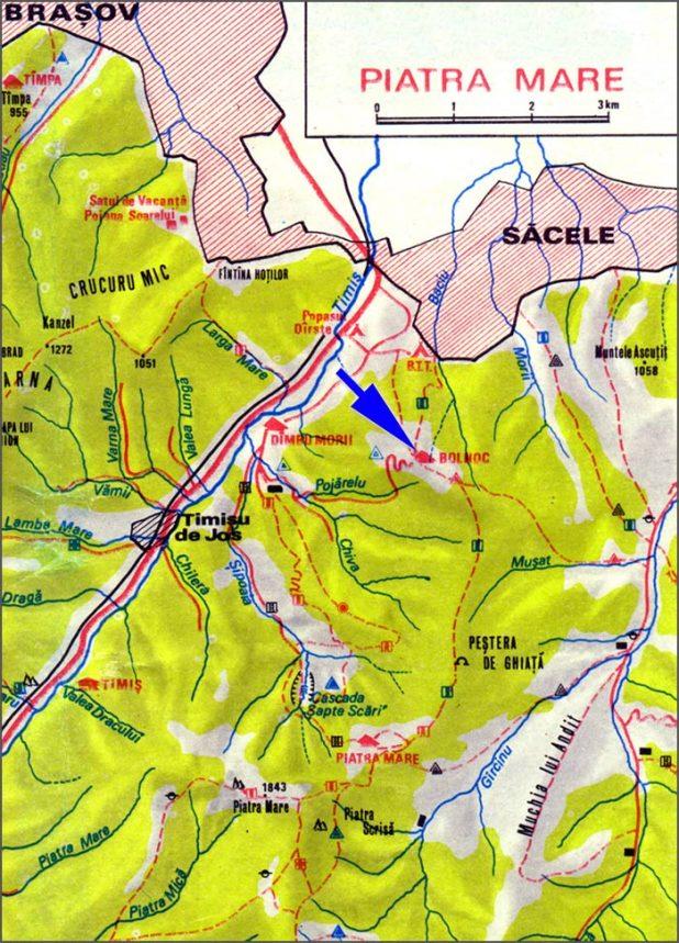 Harta Muntii Piatra Mare