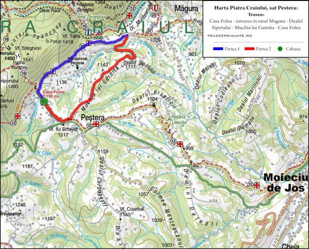 Harta Piatra Craiului_sat Pestera