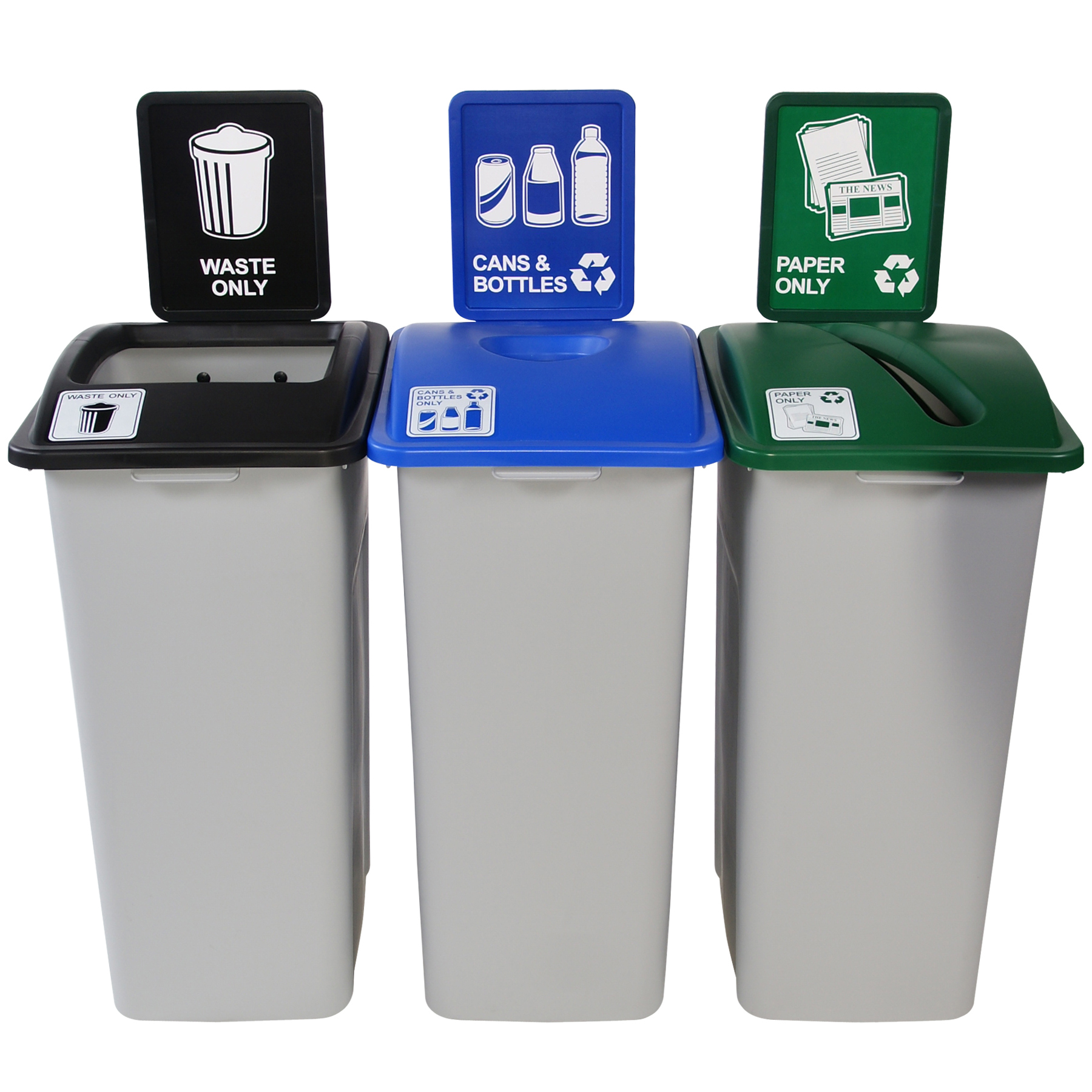Simple Sort Xl 3 Stream Recycling Amp Garbage Cans