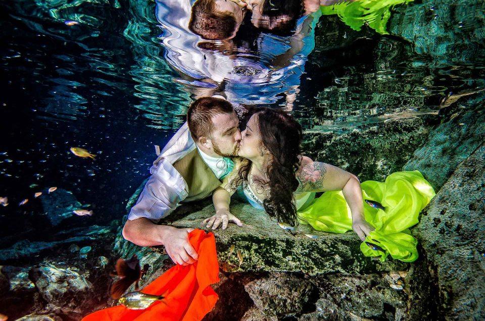 Wedding Photos Underwater