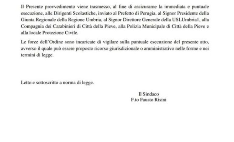 coronavirus ordinanza scuole sindaco citta-della-pieve cronaca