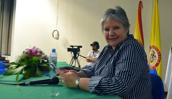 Clara María Ochoa, gerente general de COM producciones, invitada a la jornada 'Escaleta', que tiene como fin reflexionar sobre el audiovisual en nuestro medio /Jonathan Vargas.